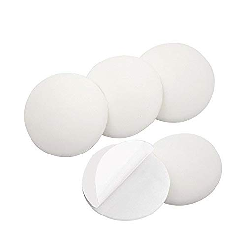 """Door Stopper Wall Protector, 5 PCS 3.15"""" Door Bumper, Silicone Wall Protector, Door Knob Guard, Wall Protectors with Self Adhesive for Protecting Wall, Doorknobs,?Large Round)(3.15inch 5Pc)"""