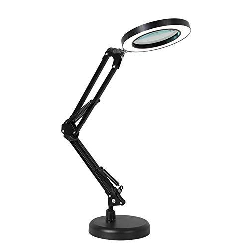 brightsen Lámpara LED USB, lámpara de belleza multifuncional, ajustable, clip para el cuidado de los ojos, luz de escritorio estable, para tatuaje, manicura, maquillaje