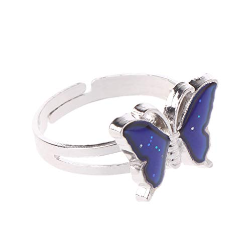 XIAN Magic Butterfly Color Change Mood Ring Emotion Feeling Temperature Rings Jewelry