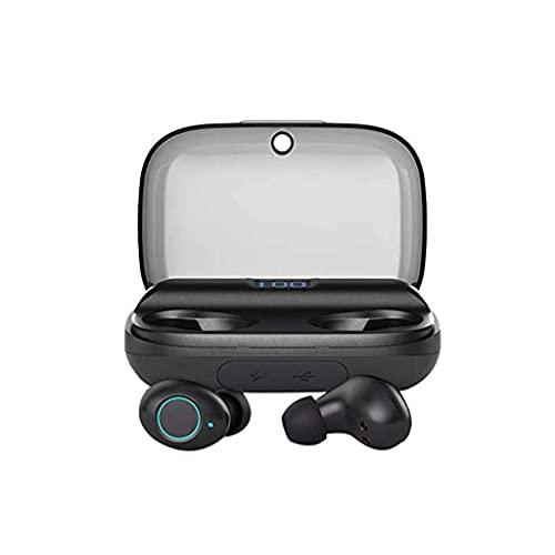 RCH Auriculares Bluetooth Control táctil con funda de carga inalámbrica Auriculares estéreo impermeables en la oreja Micrófono incorporado Premium Deep Bass para deporte