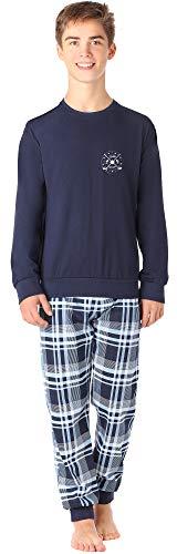 Timone Jugend Schlafanzug TI111 (MarineGolf, 170)