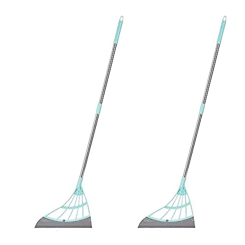 2 PCS Multifunction Magic Broom, Foldable Silicone Broom,two in One to Clean Dust and Water Stains, Kitchen Bathroom Floor Glass Cleaning Broom