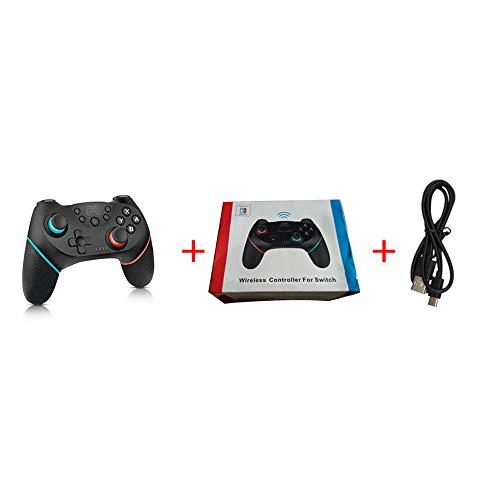 HCCX Jeu sans Fil -Bluetooth Gamepad Manette De Jeu (avec Poignée 6 Axes) -Convient pour Nin Commutateur NS-Switch Pro Console De Jeu Pro,B