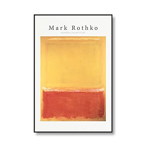 Mark Rothko, cartel de exposición de arte abstracto, impresiones, cuadro artístico de pared, decoración moderna para el hogar, pintura en lienzo sin marco A3 15x20cm