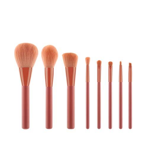 12shage 8 pièces Pinceaux de Maquillage Ensemble Pinceaux Maquillage Cosmétique Professionnel Cosmétique Brush Beauté Maquillage Brosse Makeup Brushes pour les fonds de teint,