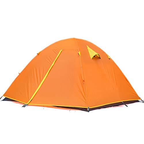 ALTINOVO Tente de Camping en Plein air pour 4 Personnes, Facile à Utiliser Peut Vivre 3-4 Personnes Étanche ventilé Durable,Orange