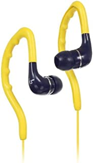 (Without Mic, Yellow) - Kitsound Enduro Water Resistant Sports Earhook Earphones Red