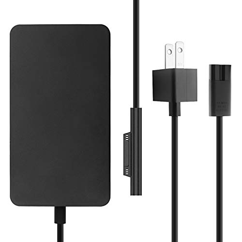 Surface Pro Charger 65W, Compatible Pro 3/4/5/6/7 Power Adapter for Both Microsoft Surface Laptop Tablet Works with 65W&44W&36W&24W