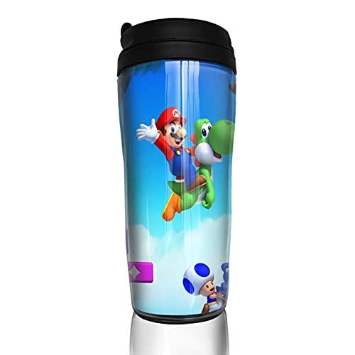 Nuevo Super Mario bros u DLC taza de café hombres mujeres aislamiento agua taza viaje oficina trabajo al aire libre novedad regalo cumpleaños 12 oz capacidad