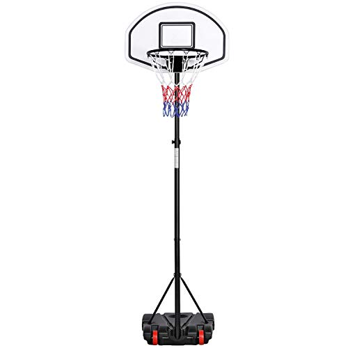 Yaheetech Basketballständer Höhenverstellbar Basketballkörbe mit befüllbare Ständer Basketballanlage Tragbar Korbanlage 159-214 cm