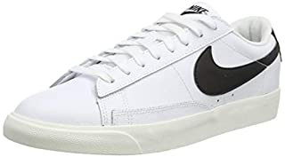 scheda nike blazer low leather, scarpe da basket uomo, white/black-sail, 44.5 eu
