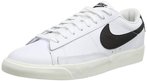 Nike Blazer Low Leather, Scarpe da Basket Uomo, White/Black-Sail, 41 EU