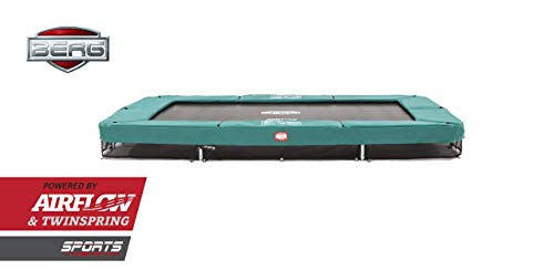 BERG Trampoline Inground Champion rectangular 330 | Premium Trampoline, Kids trampoline, Longer Lifetime Warrenty, Outdoor Trampoline, Sports Trampoline, Jump higher with TwinSpring and Airflow