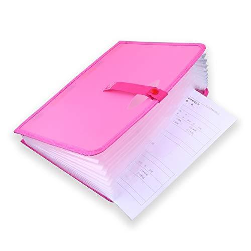 NgMik Organizador de Archivos de Carpeta de acordeón Organizador de Organizador de Documentos de Cierre a presión Organizador de Documentos de acordeón con Etiquetas Caja portátil