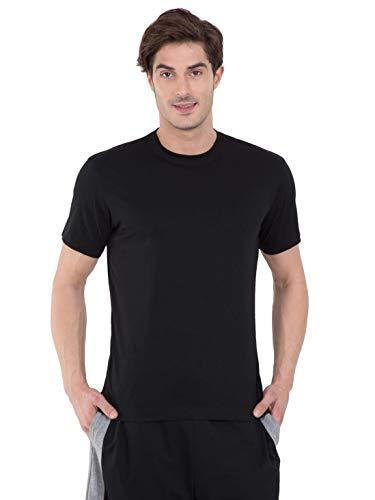 Jockey Men's T-Shirt (2714-0105_Black_Medium)