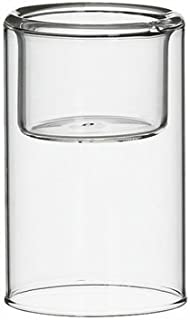 CYS EXCEL Hurricane Pack of 6 Tealight Glass Candle Holders-3.5 inch Tall, open at each end, wedding centerpiece, versatile, flowers vase