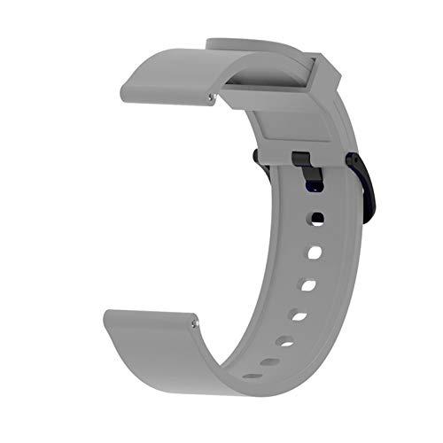 LXF JIAJU Silicone Sport Watch Band para Xiaomi Huami Amazfit BIP Watch Active Smart Watch Strap 20mm Watch Reemplazo Nueva Correa (Color : Gray)
