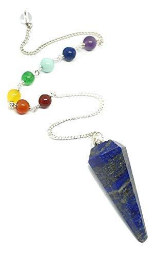 Eclectische winkel Uk Lapis Lazuli Pendulum Chakra Edelsteen kristallen ketting waarzeggerij Dowser Reiki genezer kristal edelsteen