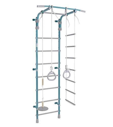 Wallbarz Espaldera para habitación infantil, 120 kg, color pastel, 2 escaleras para interior, color mar