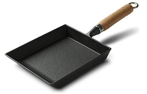 Norden Bratpfannenwerkzeuge Pfannen Japanische Steak/Ei Pfanne - Nonstick - Rechteckige Bratpfanne Mini Bratpfanne - Schwarz Bratpfanne