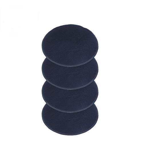 FLR 4 Pcs Wheel Felts 55cm/21.4in Black Lightweight Dustproof Tote Felts Cover for Tire Wheel