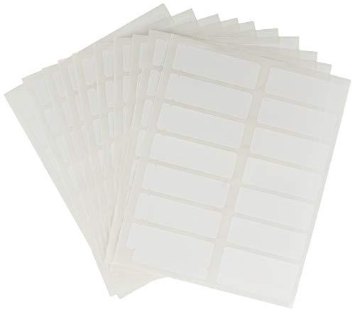 Confezione da 10 Fogli con 14 Etichette Adesive per Foglio Formato mm 52 x 18