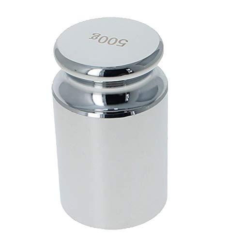 Utoolmart Juego de pesas de calibración, 500 g, acero cromado de precisión, para balanzas digitales, 2 unidades
