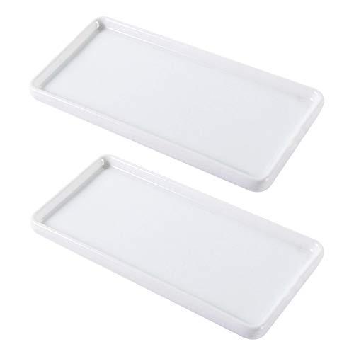 Cabilock - Juego de 2 cuencos de porcelana para baño o suelo de cerámica, para muebles de bar o hotel