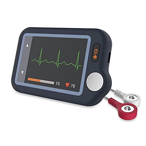 Wellue Pulsebit EX EKG Monitor, Bluetooth EKG Gerät mit iOS- und Android-App, 30s, 60s, 5min Aufnahme, Arbeit mit Smartphone und PC, Persönlicher tragbarer Herzgesundheits-Tracker