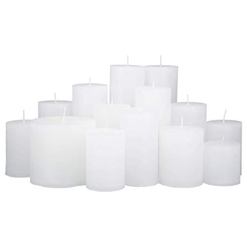 4,5 Kilo Stumpenkerzen Farbe weiß durchgefärbt von Kerzenwelt, 1. Wahl, Kerzenpaket Kerzenset (weiß)