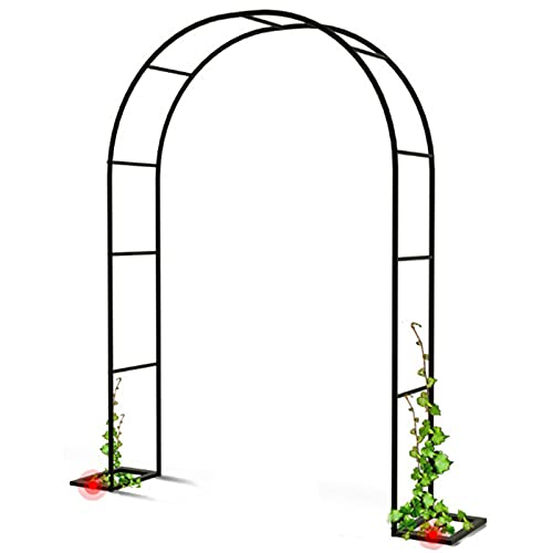 Garden Arbours and Arches, Rose Arch, for Climbing Plants & Roses Outdoor Garden Lawn Backyard Patio, Wedding, with Base Y