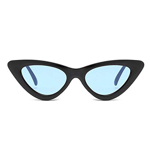 hqpaper Gafas de sol para mujer del mismo estilo Gafas de sol de moda para mujer tendencia en Europa y América-Película negra y azul brillante