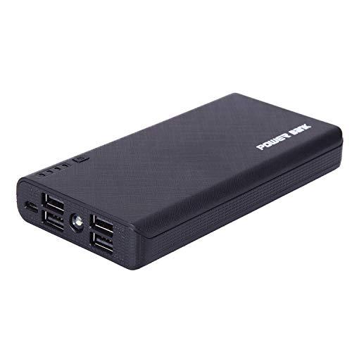 4 USB 50000mAh Power Bank LED External Backup Battery Charger F Phone (Black)