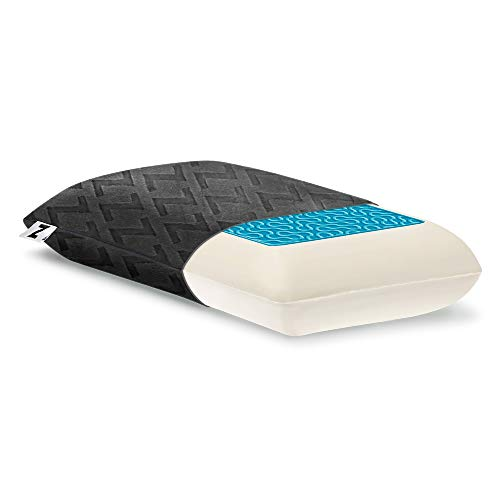 MALOUF ZZTRHPDL Z Travel Dough Memory Foam + Z Gel Pillow Removable Rayon from Bamboo Velour Cover 5-Year U.S.