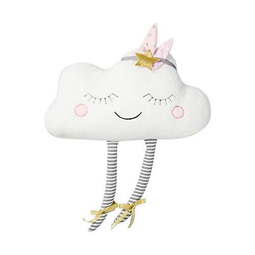 XUFAN 1 UNID Creativo en Forma de Nube de Peluche Relleno de Relleno de Relleno de colchón de Juguete para el hogar de la decoración del Coche Almohada (Color : White)