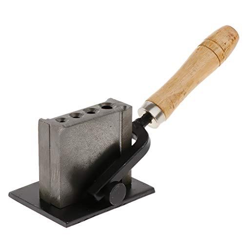 FLAMEER Reversible Schmuck Barren Drahtform Öl Nut Form Werkzeuge für Leiste Gold Silber Casting Macht - 4 Löcher