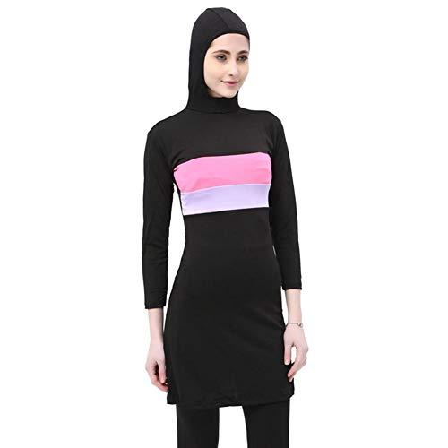 su-luoyu Damen Muslim Abaya Badeanzug Muslimische Badeanzug Muslim Islamischen Bescheidene Badebekleidung, Modest Swimwear Beachwear Burkini für muslimische Frauen