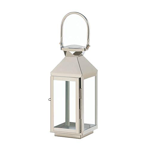 10-inch Stainless Steel Manhattan Triangles Lantern