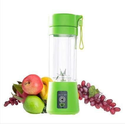 Multifunctionele sap blender USB Juicer Cup Fruit Mixer zes vellen roermachine Smoothies Baby Food Drop 400ml groen