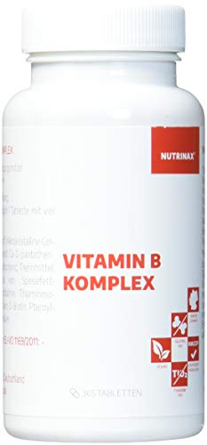 Vitamin B Komplex hochdosiert - 365 Tabletten Jahresvorrat - alle 8 B-Vitamine in einer Tablette - Vitamin B1,B2,B6,B12,Folsäure,Biotin,Niacin,Pantothensäure - Made in Germany - vegan(365 Tabletten)
