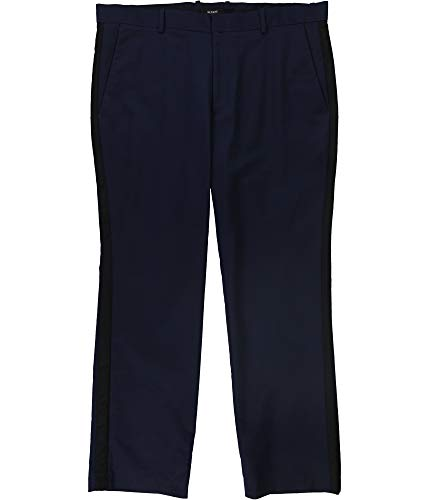 Alfani Mens Striped Work Wear Chino Pants Navy 32/30