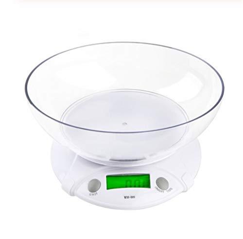 MISDD 7 kg / 1G LCD Digital multifunción electrónica Paquete del Peso del alimento con la Cocina un tazón Escala del hogar electrónica al por Mayor de Las Escalas