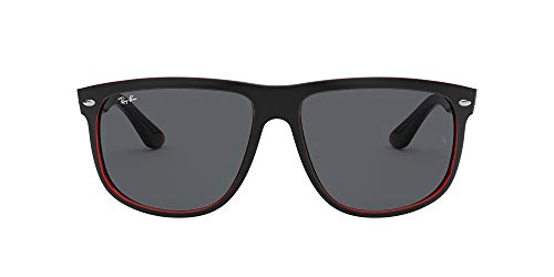 Ray-Ban Highstreet Gafas de sol, Top Mat Black on Red Trasp, 55 para Hombre