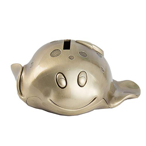 ZHZX Metall-Münzen-Bank, Zink-Legierung Teufel Fisch Sparschwein, Retro Crafts Ornament-Geld-Kasten Geburtstags-Geschenk für Kinder