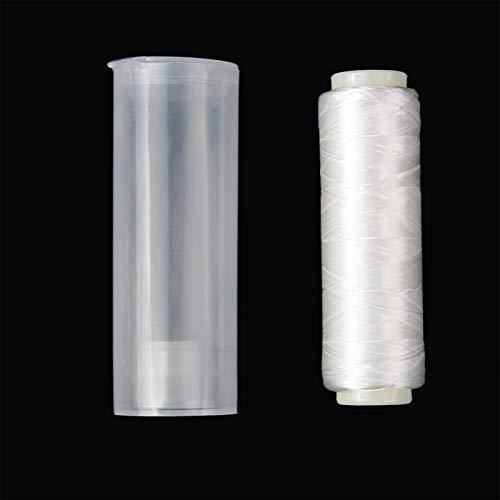 ANGLER DREAM 2pcs Bait Elastic Thread Sea Fishing Tying Material 0.2mm 656FT Per Spool Stretchy Invisible Sea Fishing line