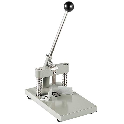 Superland Manual Desktop Radius Corner Cutter Rounder R6 R10 All Metal Heavy Duty Corner Rounder Punch Cutter Commercial for PVC Paper Card (with 2 Baldes)