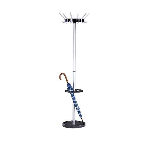 Kerkmann Garderobenständer, klassisch - aus Stahl - 6 Huthaken, 12 Mantelhaken - Garderoben locker coat hat umbrella floor standing rack