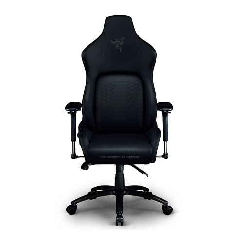 Razer Iskur XL Gaming Chair: Ergonomic Lumber Support System - Multi-Layered Synthetic Leather Foam Cushions - Engineered to Carry - Memory Foam Head Cushion - Black