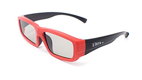 UltraByEasyPeasyStore Ultra 4 Pairs of Black and Red Childrens Passive 3D Glasses for Kids Polorized Eyewear Universal for Passive Cinema and Projectors Such as RealD Toshiba LG Panasonic Sony TVs