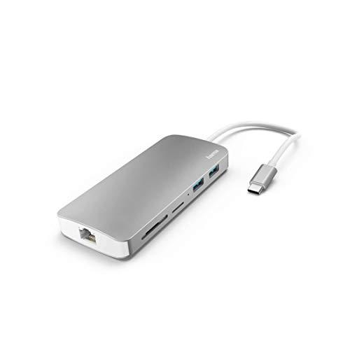Hama Docking-Station 7in1 USB-C p/ 2 USB 3.1 HDMI LAN SD MicroSD USB-C - 1744575823915